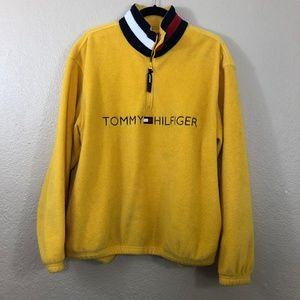 Tommy Hilfiger Vintage Yellow Half Zip Fleece